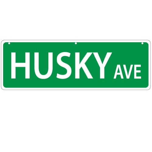 Imagine This Husky Street Sign