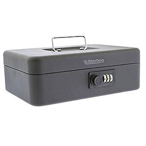 Burg Wachter CB03CBK 10″, 3-Dial Combination Lock Cash Box in Black Finish