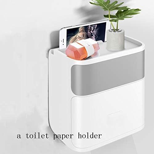 GONDD バスルームとキッチンのために - トイレットペーパーホルダー - ウォールマウントトイレットペーパーホルダーは-Waterproof/防塵ロール紙ホルダーディスペンサー (Color : Gray)