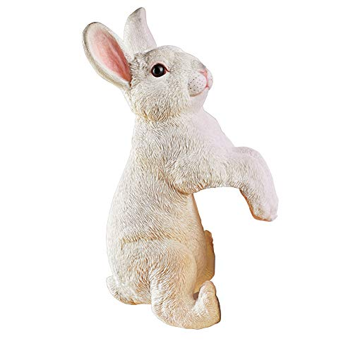 Collections Etc Realistic Peeping Bunny Decorative Figurine - Spring Yard and Home Decorative Accent