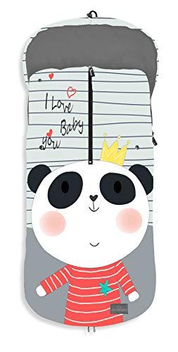 Saco POLAR de Invierno de Silla de Paseo - Panda (Universal-Bugaboo-Mclaren)
