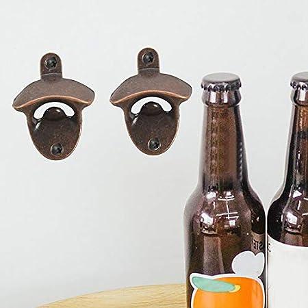 WANWE Paquete de 20 Sacacorchos Conjunto de Sacacorchos de Cerveza Montado en la Pared, Aspecto Retro con Tornillos de Montaje para Cocina CafeteríA Bar