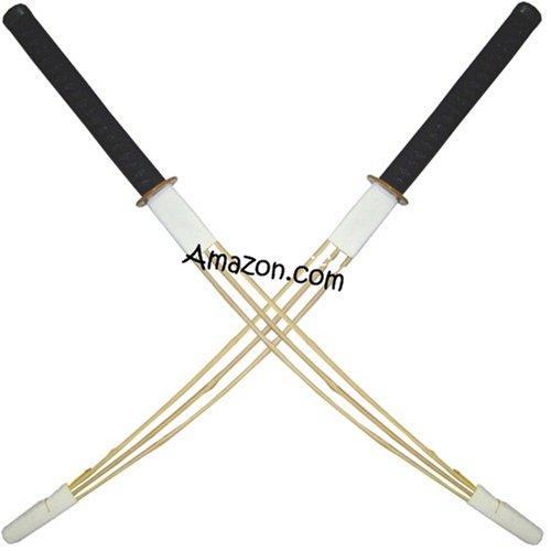 Set of 2 Full Force Bokken Shinai Hybrid Katana Kendo Practice (Shinai Kendo Stick)