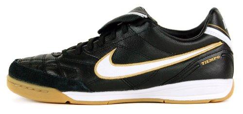Nike Tiempo Mystic III IC Black 366184 018, Black/ White-Metallic Gold, 6.5
