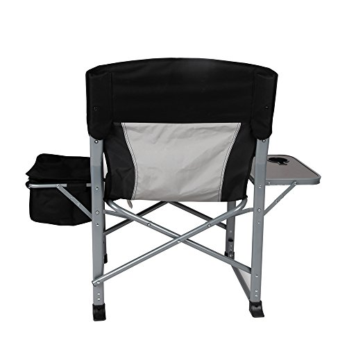 KingCamp Heavy Duty Steel Folding Chair/Director's Chair with Cooler Bag and Side Table