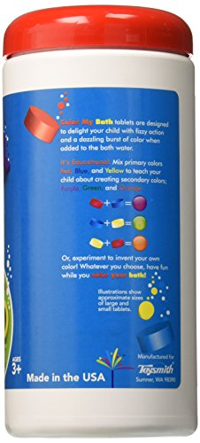 Color My Bath Color Changing Bath Tablets, 300-Piece
