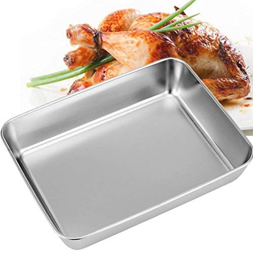 Sheet Pan,Cookie Sheet,Hotel Pan,Heavy Duty Stainless Steel Baking Pans,Toaster Oven Pan,Jelly Roll Pan,Barbeque Grill Pan,Deep Edge,Superior Mirror Finish, Dishwasher Safe By Meleg Otthon by meleg otthon (Image #5)