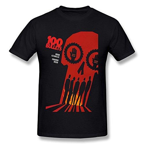 LUYI Men's 100 Bullets Brian Azzarello Eduardo Risso T-shirt
