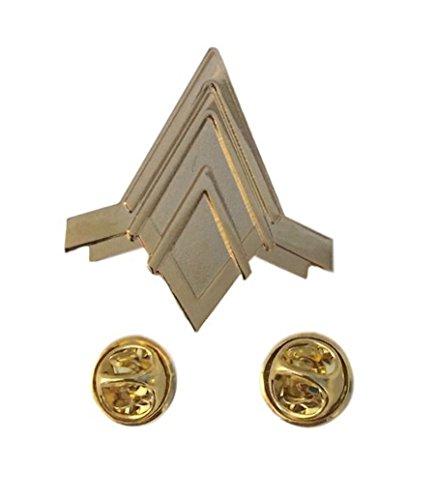 Battlestar Galactica Viper Pilot (Battlestar Galactica BSG Viper Pilots Wings Rank Metal Pin)