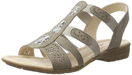 Softline Damen 28163 Offene Sandalen mit Keilabsatz Beige (LT. TAUPE 347)