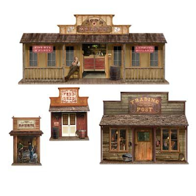 Wild West Town Props Party Accessory (1 count) (Wild West Costumes For Girls)
