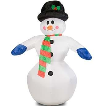 Muñeco de nieve XXL hinchable (240cm de altura, iluminación LED, autohinchable)
