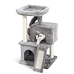 PAWZ Road Cat Tree Luxury Cat Tower with Double Condos, Spacious Perch, Fully Wrapped Scratching Sisal Posts and Replaceable Dangling Balls 22