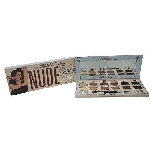 Charming Lipstick - Nude Dude Eyeshadow Palette, 12 Triple-Milled Shades