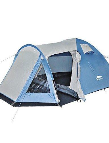 ZQ ROCVAN 3 Season A070 3-4 Person Double Layer Fiberglass Pole Camping Tent