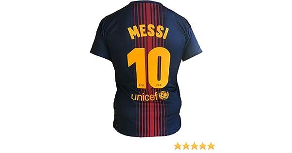 Small, Medium, Large, Xlarge 2,4,6,8,10,12,14 a/ño Adultos Camiseta Jersey Futbol Barcelona Lionel Messi 10 Replica Autorizado 2018-2019 Ni/ños
