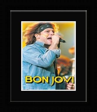 Jon Bon Jovi - Yellow Face Paint Framed Mini Poster