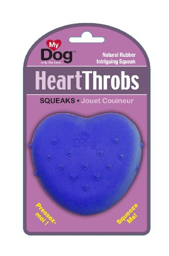 MY DOG Heart Throbs Dog Toy, Small, Colors Vary, My Pet Supplies