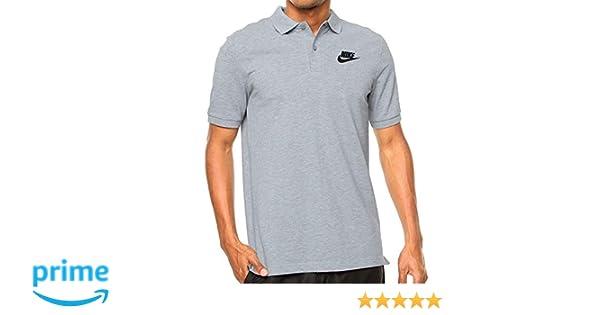 37b145bef Amazon.com  Nike M NSW POLO SS MATCHUP JSY mens athletic-shirts  832865-063 L - DK GREY HEATHER BLACK  Sports   Outdoors