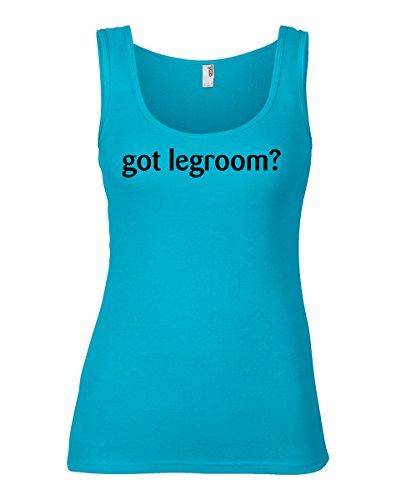 Shirtloco Womens Got Legroom Tank Top  Caribbean Blue Medium