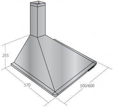 AKPO WK-5 ELEGANT TURBO 60 cappa aspirante//illuminazione alogena//acciaio inox