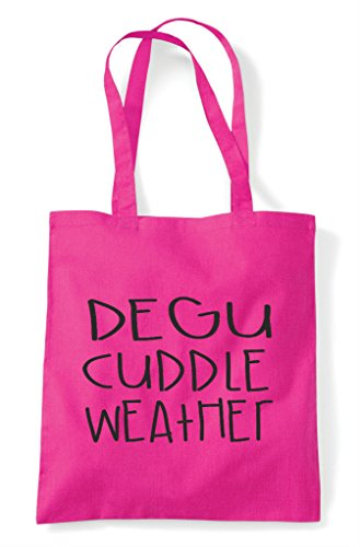 Funny Themed Cute Bag Cuddle Shopper Animal Tote Weather Fuschia Pet Degu TIw6pR
