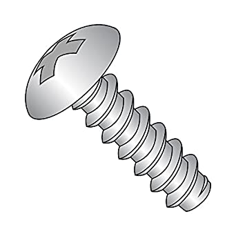 Pack of 25 Phillips Drive #10-16 Thread Size Type 25 1 Length Plain Finish 18-8 Stainless Steel Thread Cutting Screw Pan Head