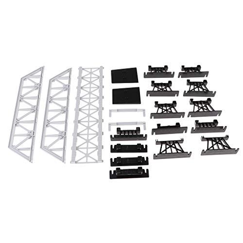 Flameer Simulation Bridge Model Unassembly Parts Train Railroad Landscape Building