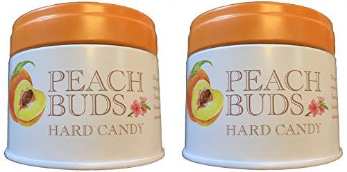 Butterfields Buds Hard Candy Tins - 3.5 Ounce Tin - Pack of 2 (Peach) ()