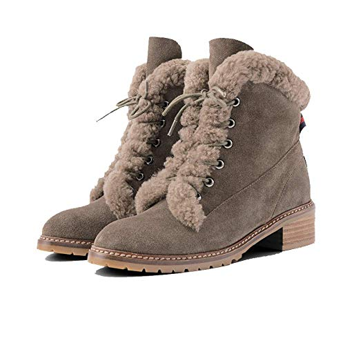 Kaki Chaussures Retro Matte Zqzq Dentelle Pour Mode Femmes Bottillons qR8gTAIgw