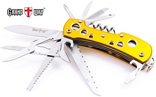 Multi Function Knife 13-in-1 with Corkscrew and Scissors