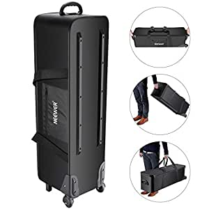 equipment case studio rolling bag carrying trolley light neewer stand camera tripod cases amazon storage monopod umbrella etc 8x11 1x11