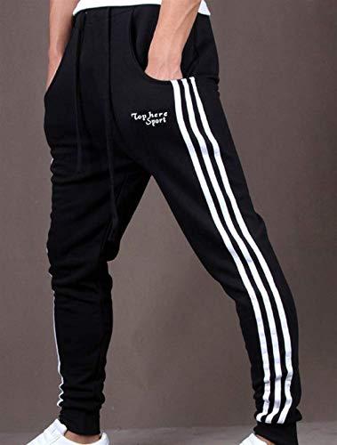Nero Con Slim Battercake Elastici Jogging Fit Comodo Sporthose Da Esterno Pantaloni Uomo 4qwZ4PU