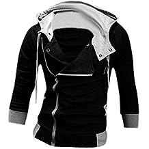 jeansian Men's Slim Fit Jacket Hoodie Shirts 8945 Black XS