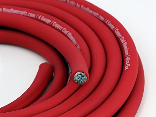 KnuKonceptz KCA Kable 4 Gauge Power Wire Red (sold in 10 foot increments)
