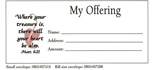 My Offering Bill Size Envelope 100pk (Offering Envelopes For Church)