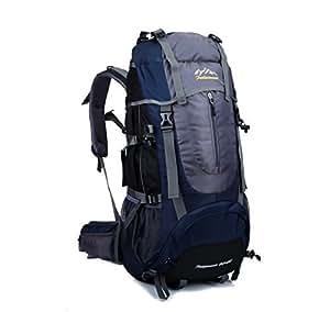 SKYSPER 65L Hiking Backpack Outdoor Camping Climbing Trekking Rucksack Water-Resistant Unisex Travel Bag