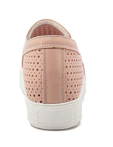 Redonda Eu38 White us11 Gyht De us7 Cn38 Zapatos Uk9 5 Rosa mocasines Zq Eu43 Pink semicuero negro plataforma punta Uk5 5 Cn44 Mujer Blanco casual xUY1ndq6w