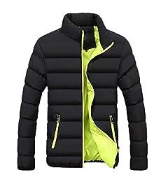Abrigo para Hombre Invierno ♚Btruely Herren Chaqueta Caliente cálido Slim Fit Abrigo Gruesa Capa de Burbuja Casual Chaqueta Parka Prendas de Vestir: ...
