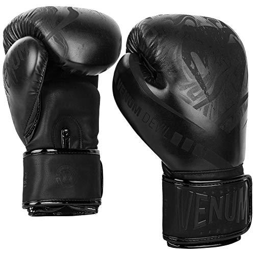 Venum Devil Boxing Gloves - Black/Black - 14 Oz