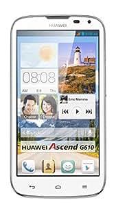 "Huawei Ascend G610 - Smartphone libre Android (pantalla 5"", cámara 5 Mp, 4 GB, Quad-Core 1.2 GHz, 1 GB RAM, Dual SIM), blanco (importado)"