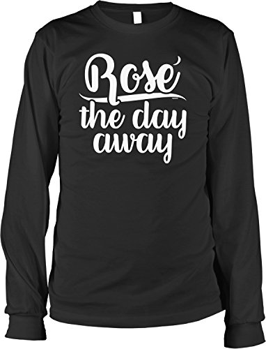 NOFO Clothing Co Rose The Day Away Men's Long Sleeve Shirt, M Black