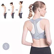 Posture Corrector for Men & Women - Adjustable Shoulder Posture Brace - FDA Approved Adjustable Upper Back Brace - Invisible Thoracic Back Brace for Hunching (S)