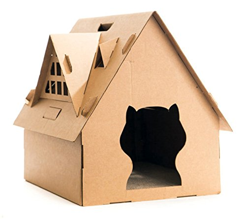 DIY Cat House For Indoor Cats Toys Cat Corner Scratcher Play Cat Toys Cat Furniture and Scratching Post Review