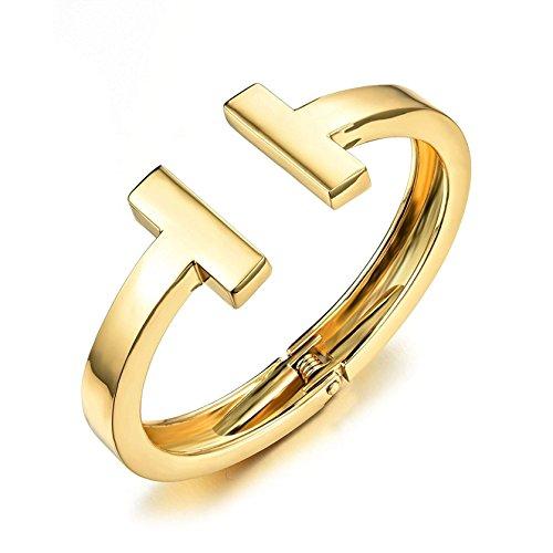 Fashion Bracelets Titanium Steel T Style Charm Uncompacted Bracelet for Women L6.69