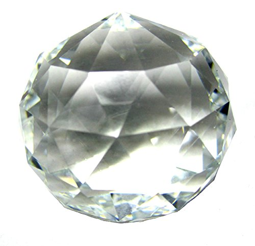 Crystal Ball Suncatcher Prism Asfour Feng Shui Faceted Round No Hole (Clear, 50mm (2 Inch))