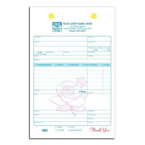 Flower Register Order Forms