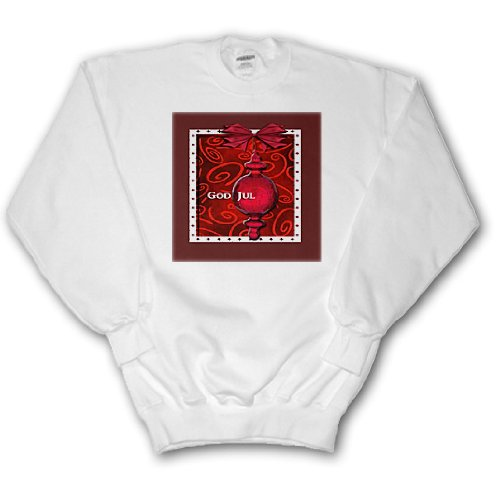 Beverly Turner Christmas Other Languages - God Jul, Merry Christmas in Swedish, Ruby Glass Ornament - Sweatshirts - Adult SweatShirt XL (ss_37013_4) Multi Language Merry Christmas