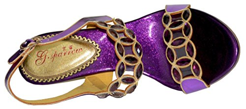 Roman Weddge Womens Hübsche Braut Toe Peep Schöne Work Party Salabobo Bridemaid Freizeit Job Schuhe Strass Comfort Sandalen Performance Lila L007 Strass Glänzender Brautkleid XAnqqx74