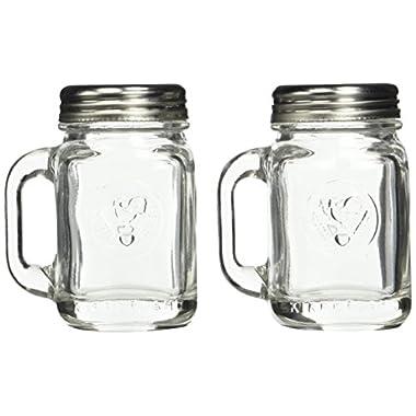 Kikkerland Mason Jar Salt and Pepper Shakers